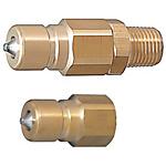 雙閥自封?緊湊型大流量冷卻水用接頭 -內接頭/耐熱120℃/外螺紋/內螺紋-