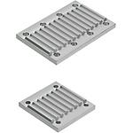 同步齒形帶用金屬件  下方過壓防止金屬件·孔位置指定型