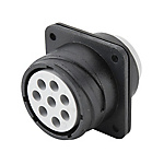 金屬卡扣防水連接器?CE01/NB01系列 面板安裝型插座