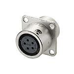金屬快速插拔連接器?PRC03系列 面板安裝型插座(法蘭型)